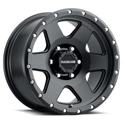 Raceline Wheels 946B Boost, 18x9 with 8 on 170 Bolt Pattern - Satin Black - 946B-89081-12