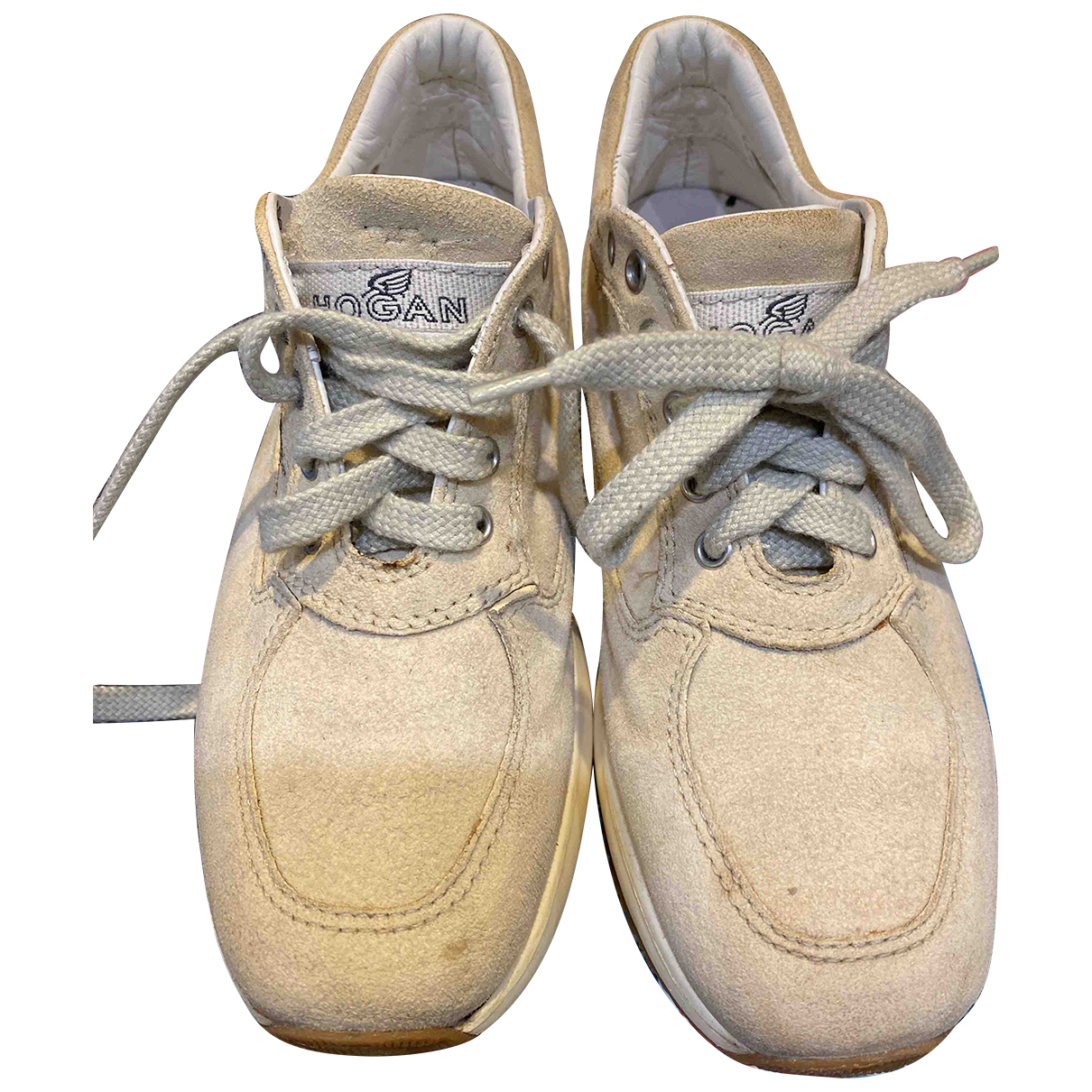 Hogan \N Sneakers in  Beige Veloursleder