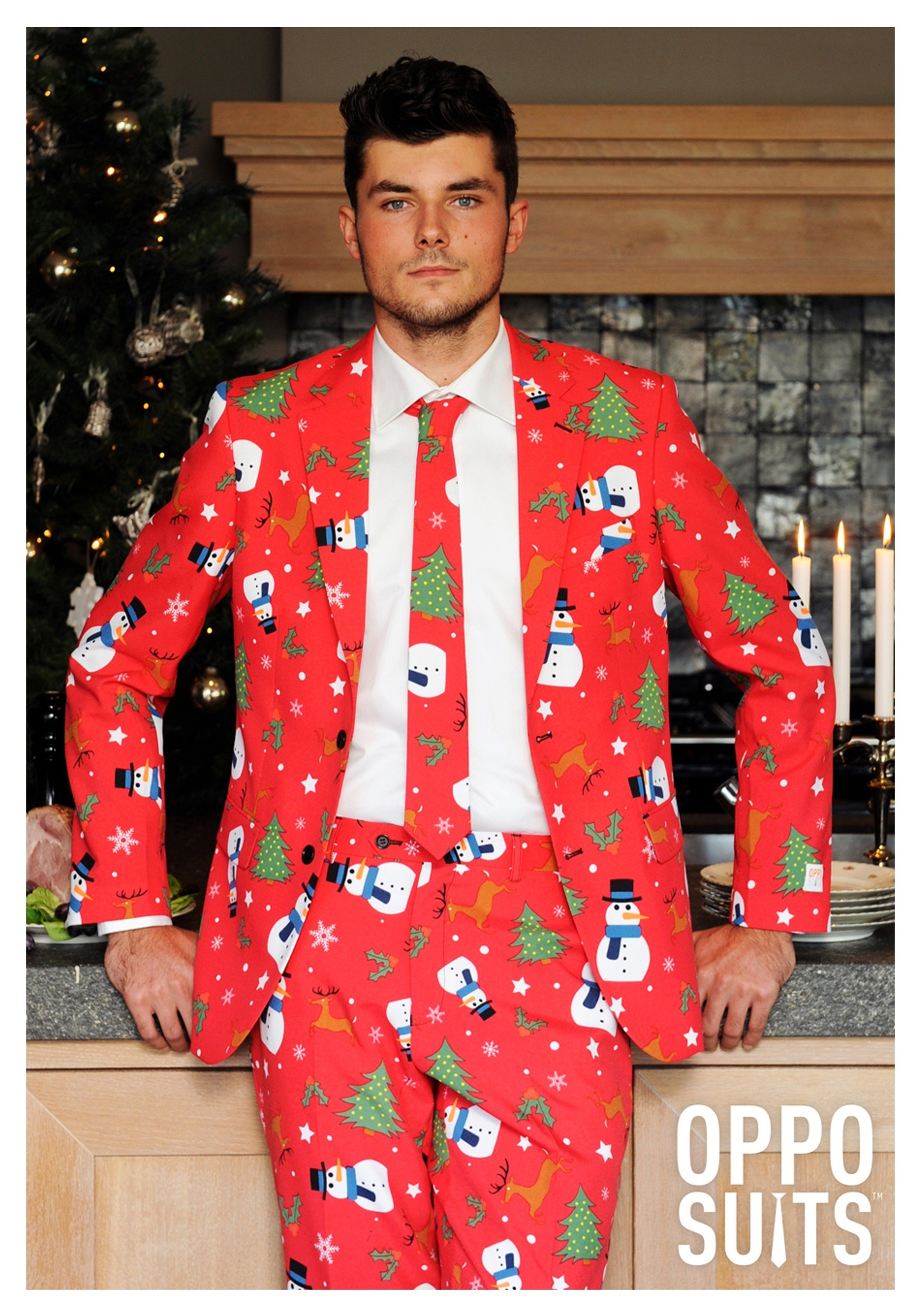 Men's Red Christmas Costume Suit