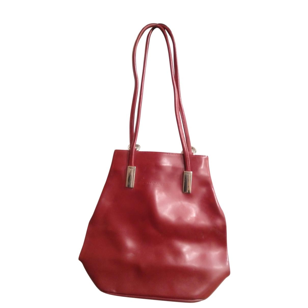 Lancaster - Sac a dos   pour femme en cuir - rouge