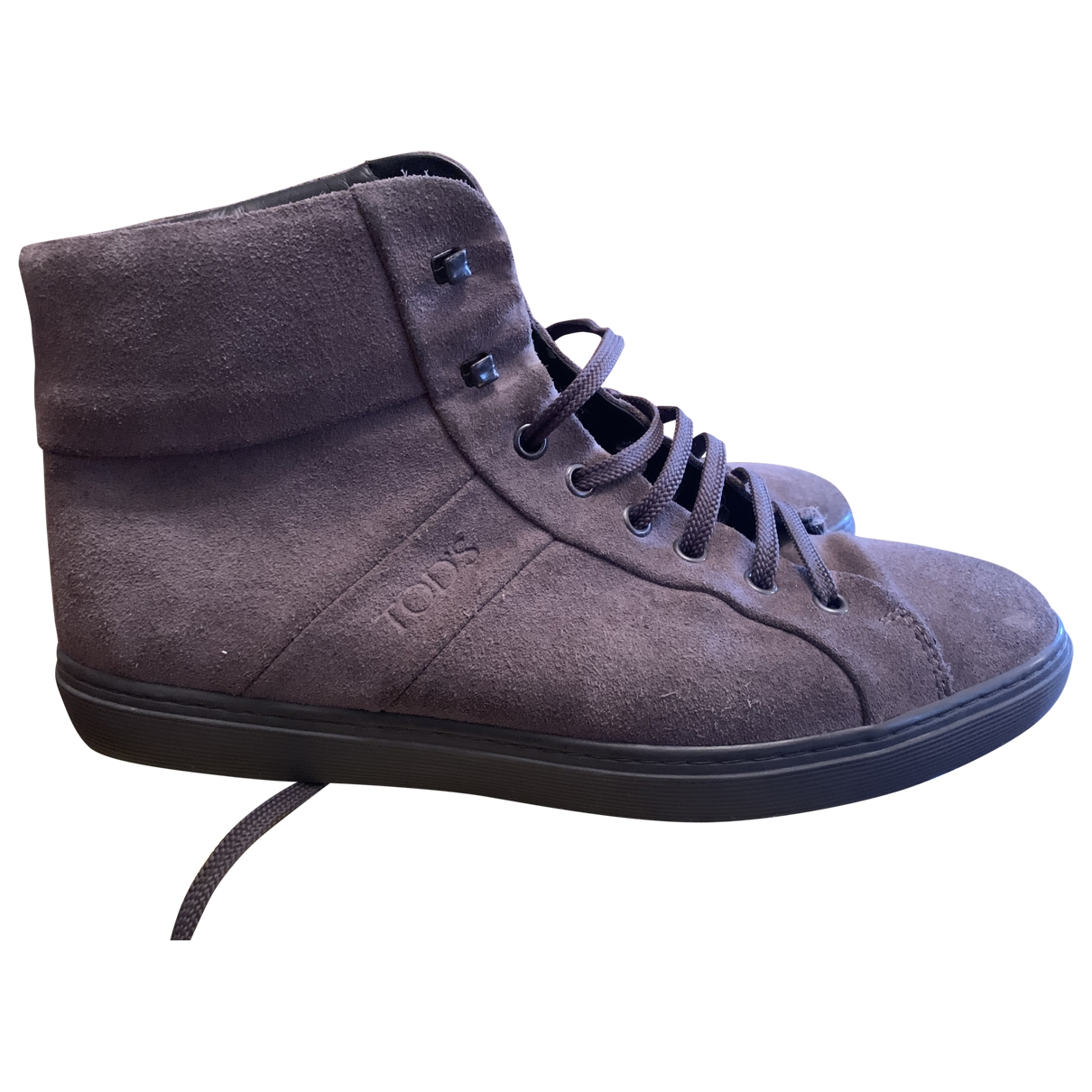 Tod's \N Anthracite Suede Trainers for Men 41 EU