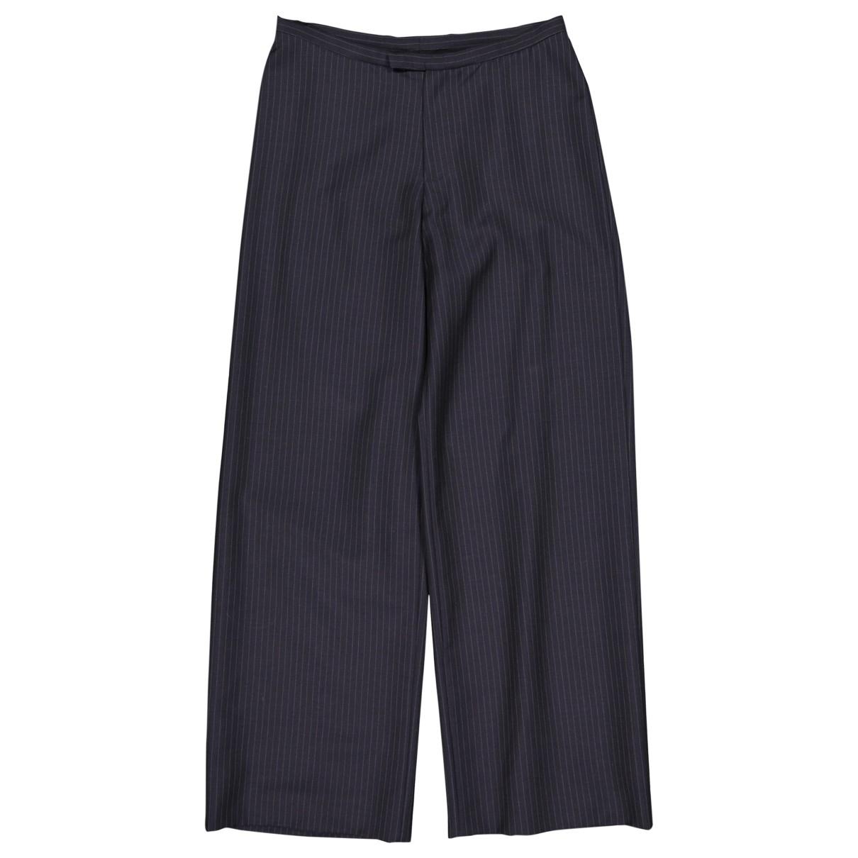 Gucci \N Navy Wool Trousers for Women 42 IT