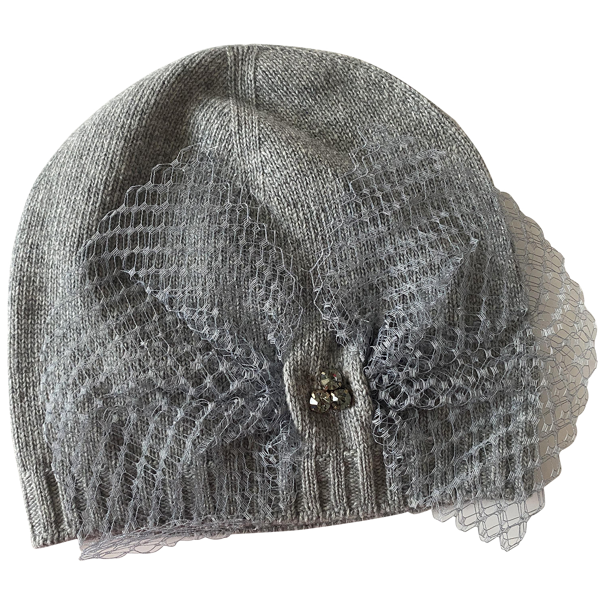 Pinko - Chapeau   pour femme en laine - gris