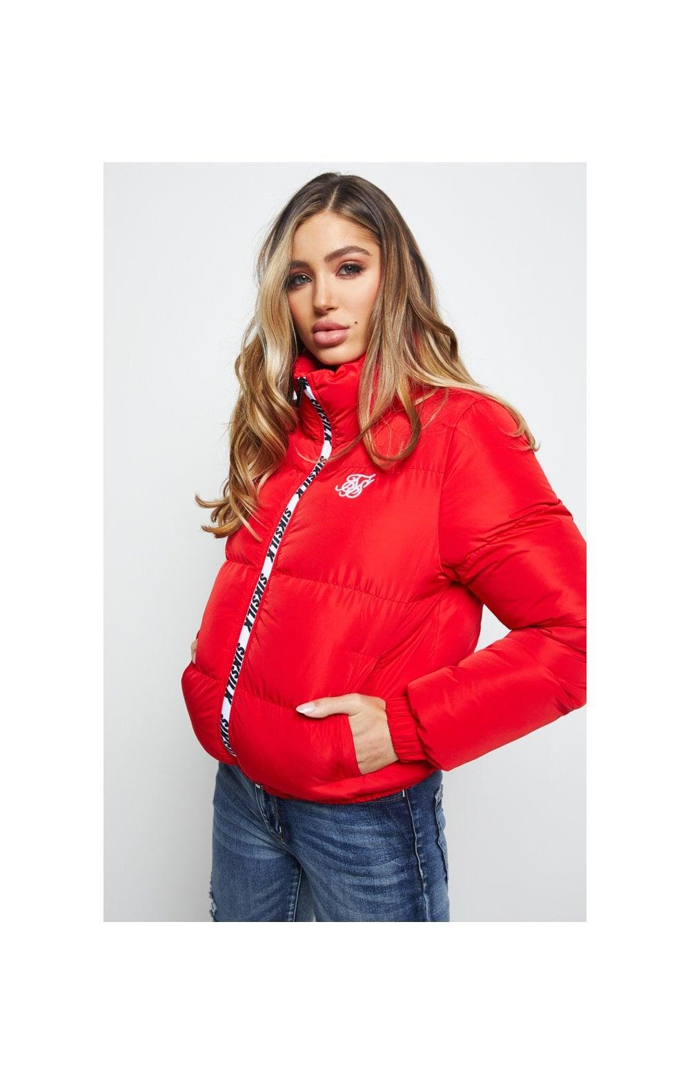 SikSilk Padded Crop Jacket - Red  WOMEN SIZES: 10-S