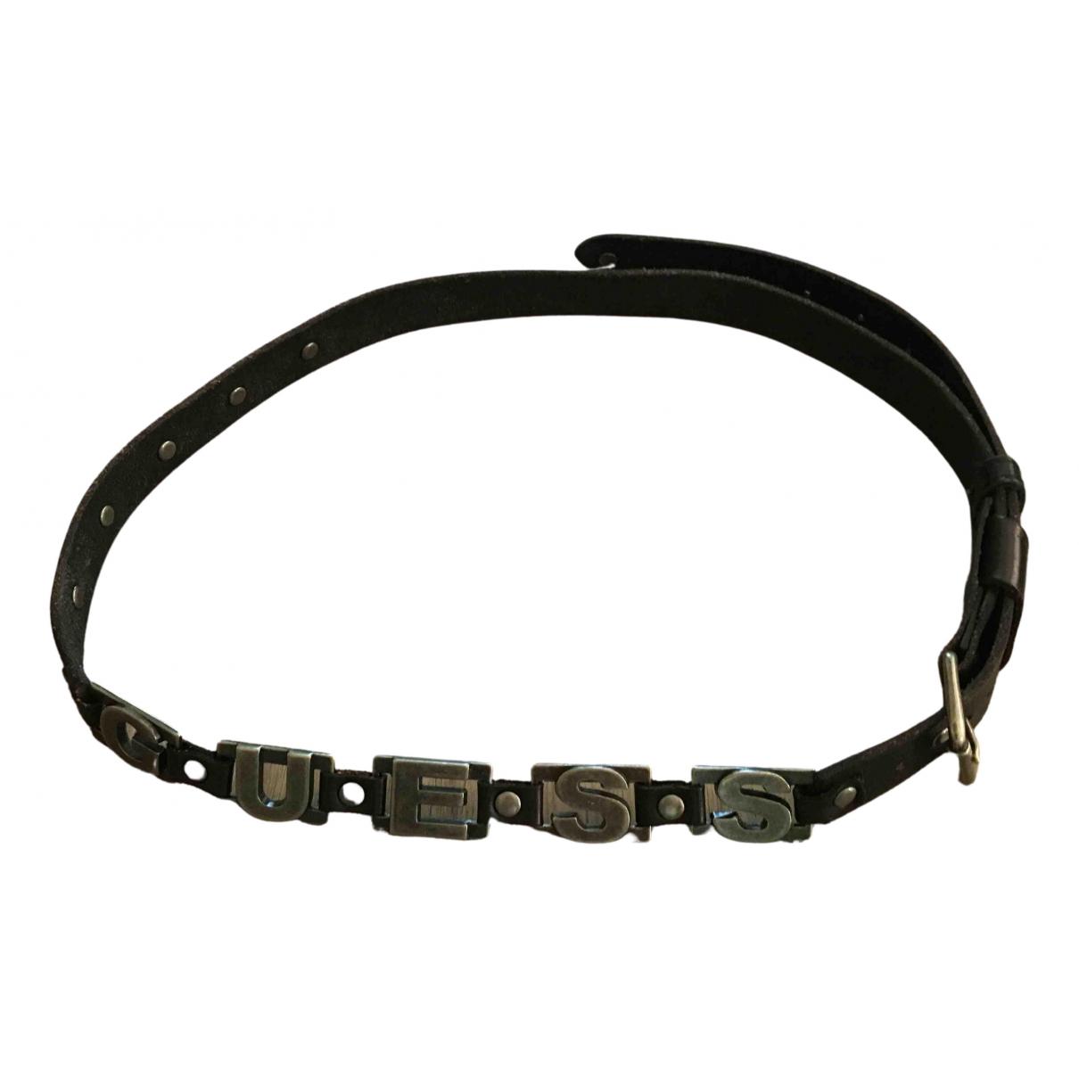 Guess N Black Leather belt for Women L International