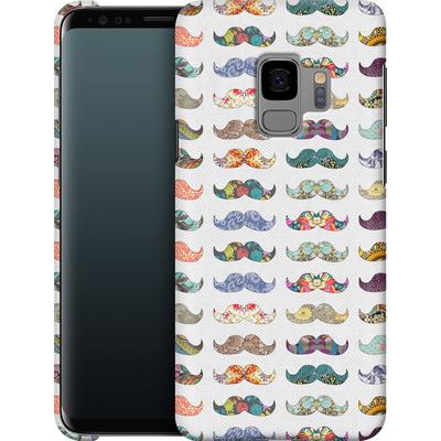 Samsung Galaxy S9 Smartphone Huelle - Mustache Mania von Bianca Green