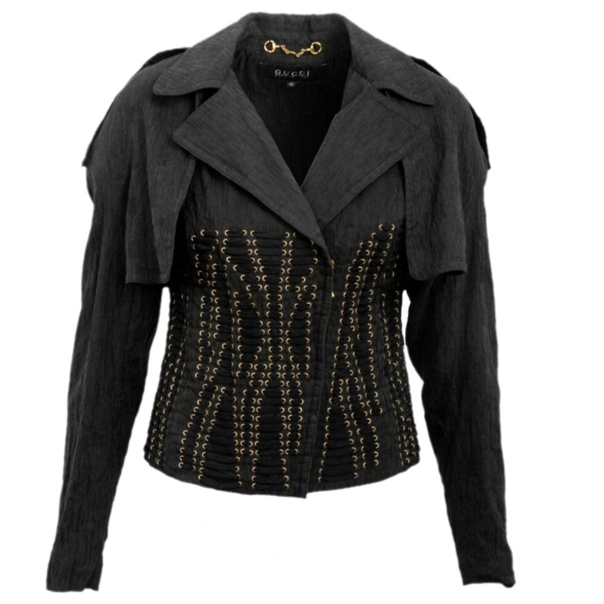 Gucci - Veste   pour femme en soie - noir