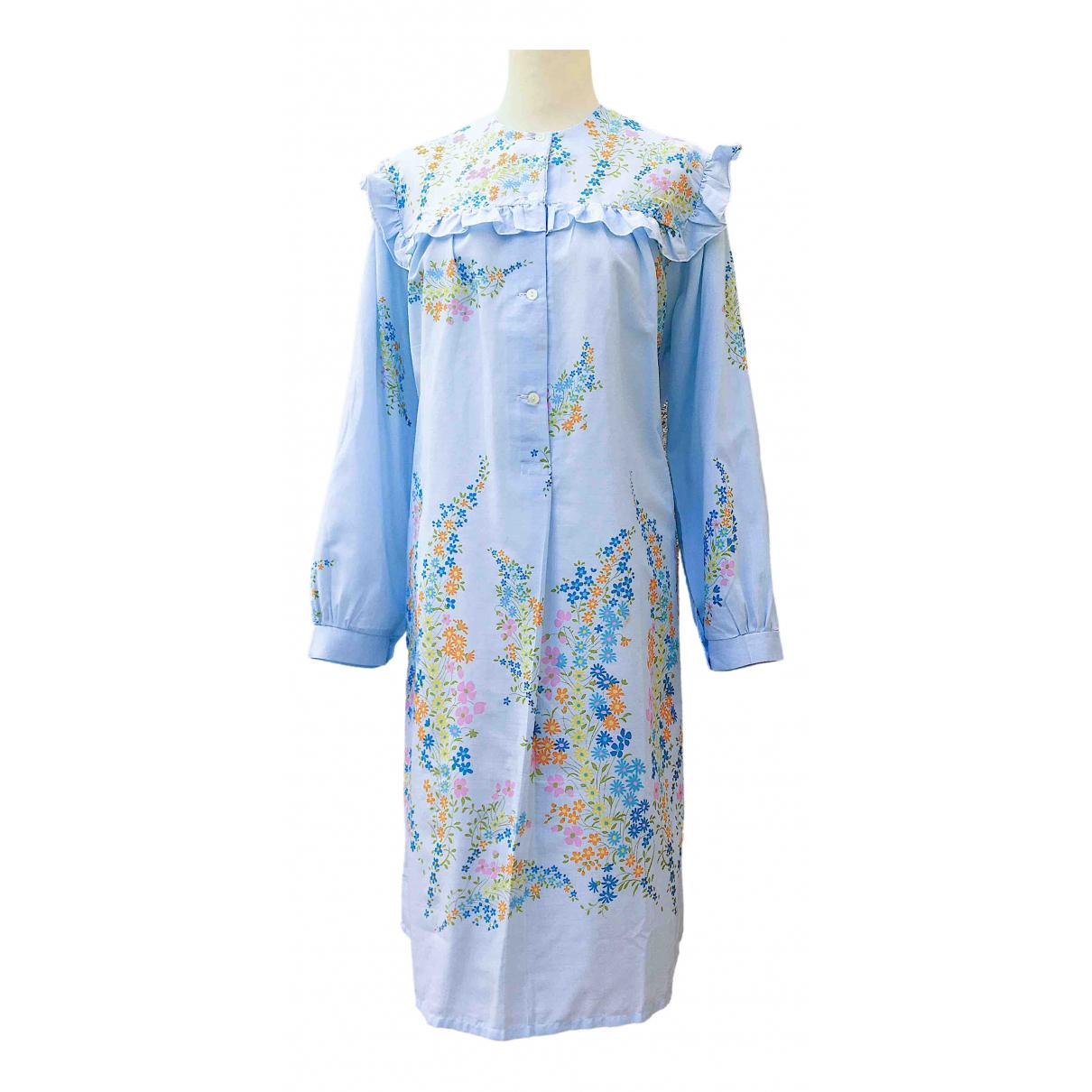 Non Signé / Unsigned \N Blue Cotton dress for Women 44 IT