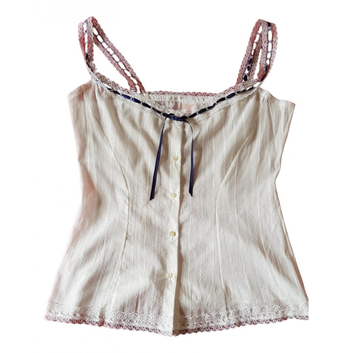 Inès De La Fressange Paris \N White Cotton  top for Women 40 FR