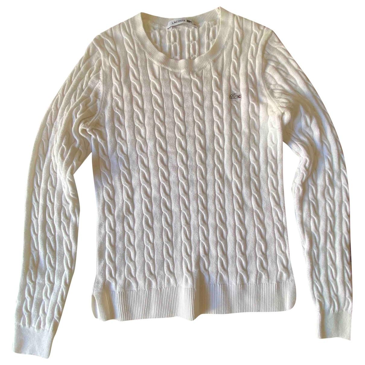 Lacoste - Pull   pour femme en coton - blanc
