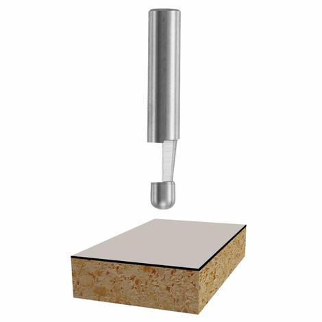 Bosch 7° x 1/4 In. Solid Carbide 1-Flute Bevel Trim Bit