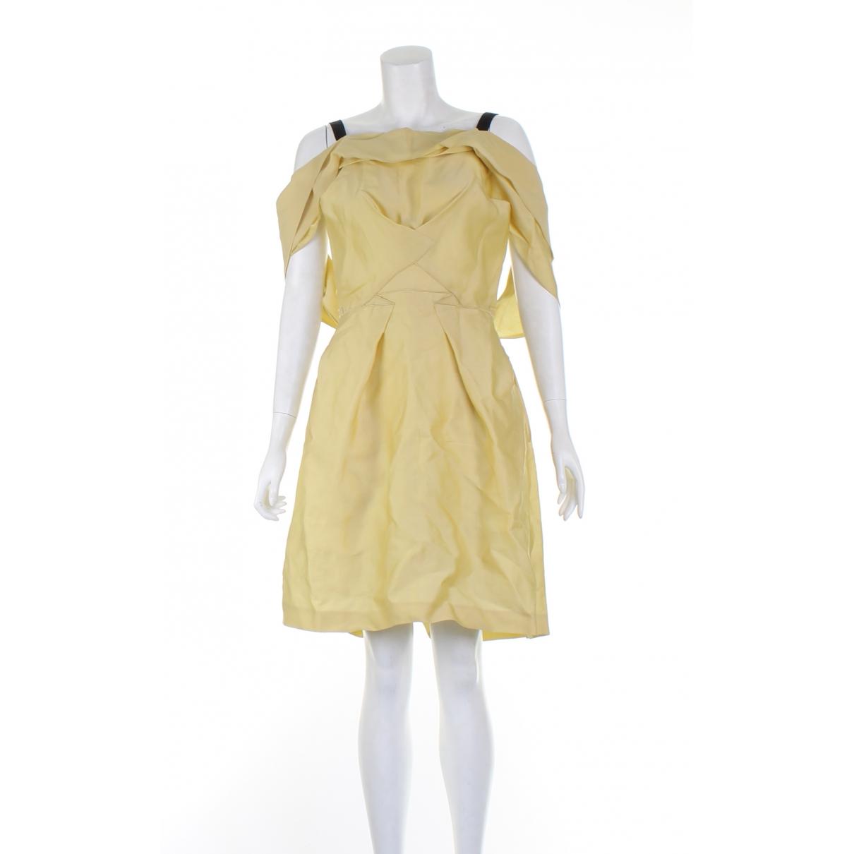 Roland Mouret \N Kleid in  Gelb Synthetik