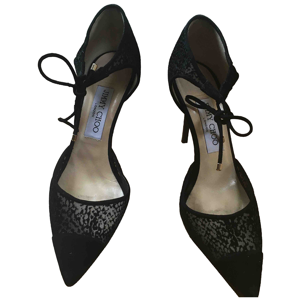Jimmy Choo \N Pumps in  Schwarz Leinen