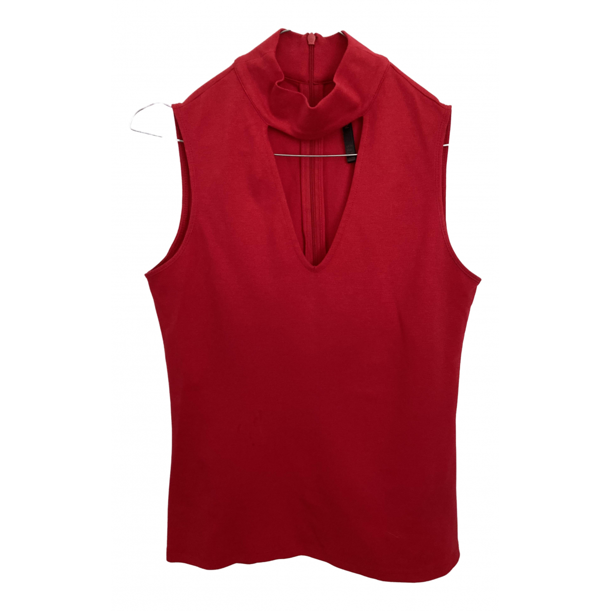 Karen Millen \N Red Cotton  top for Women 10 UK