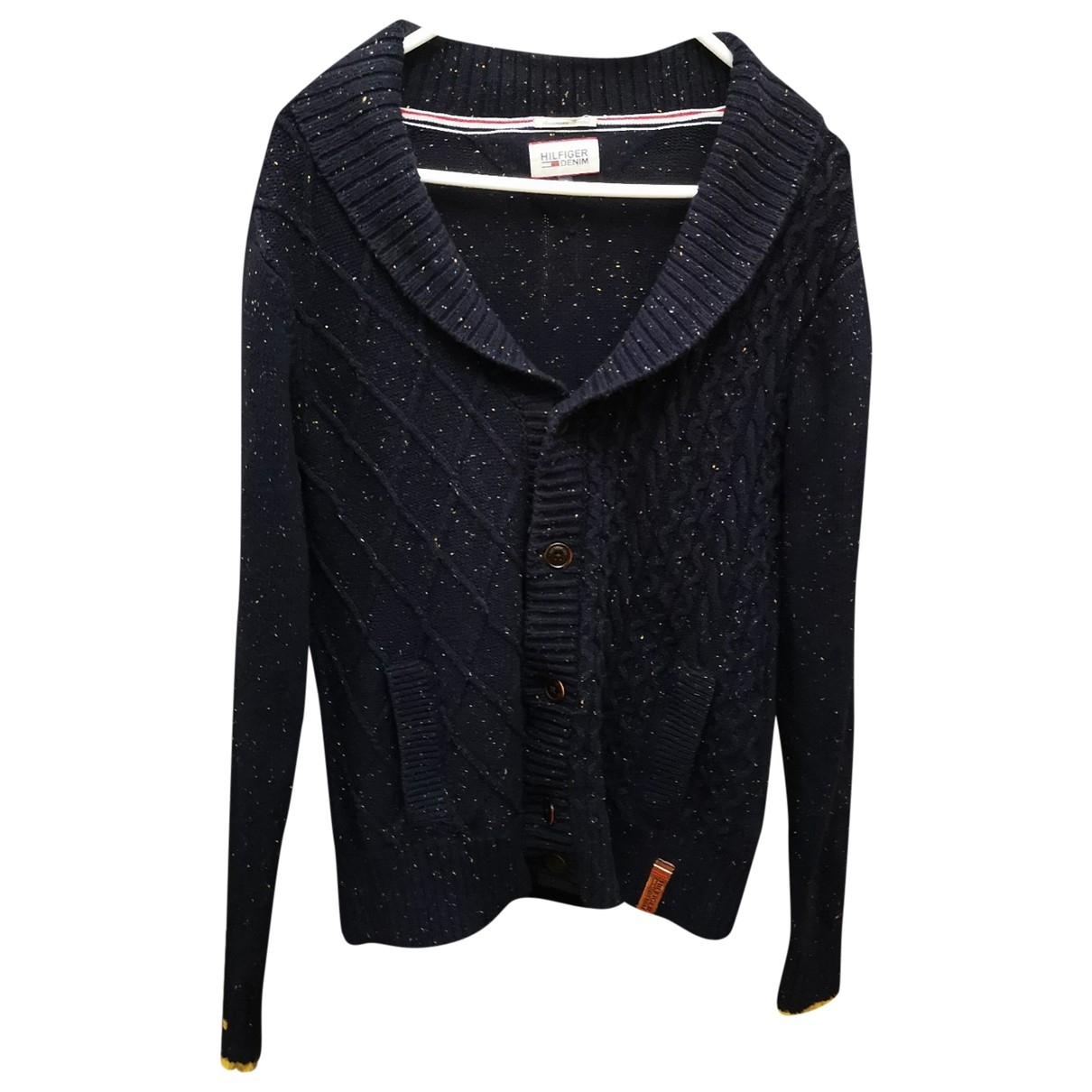 Tommy Hilfiger \N Pullover.Westen.Sweatshirts  in  Blau Wolle