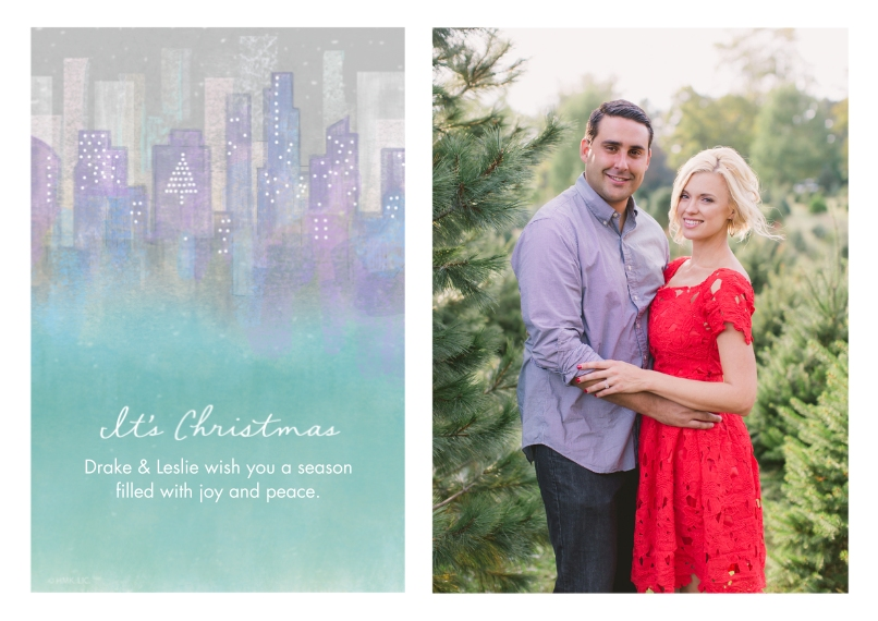 Christmas Photo Cards Flat Glossy Photo Paper Cards with Envelopes, 5x7, Card & Stationery -Christmas in the City by Hallmark