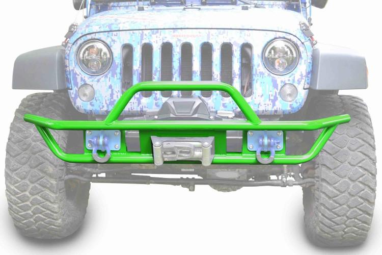 Steinjager J0048125 Bumper, Front, Tube Wrangler JK 2007-2018 Neon Green