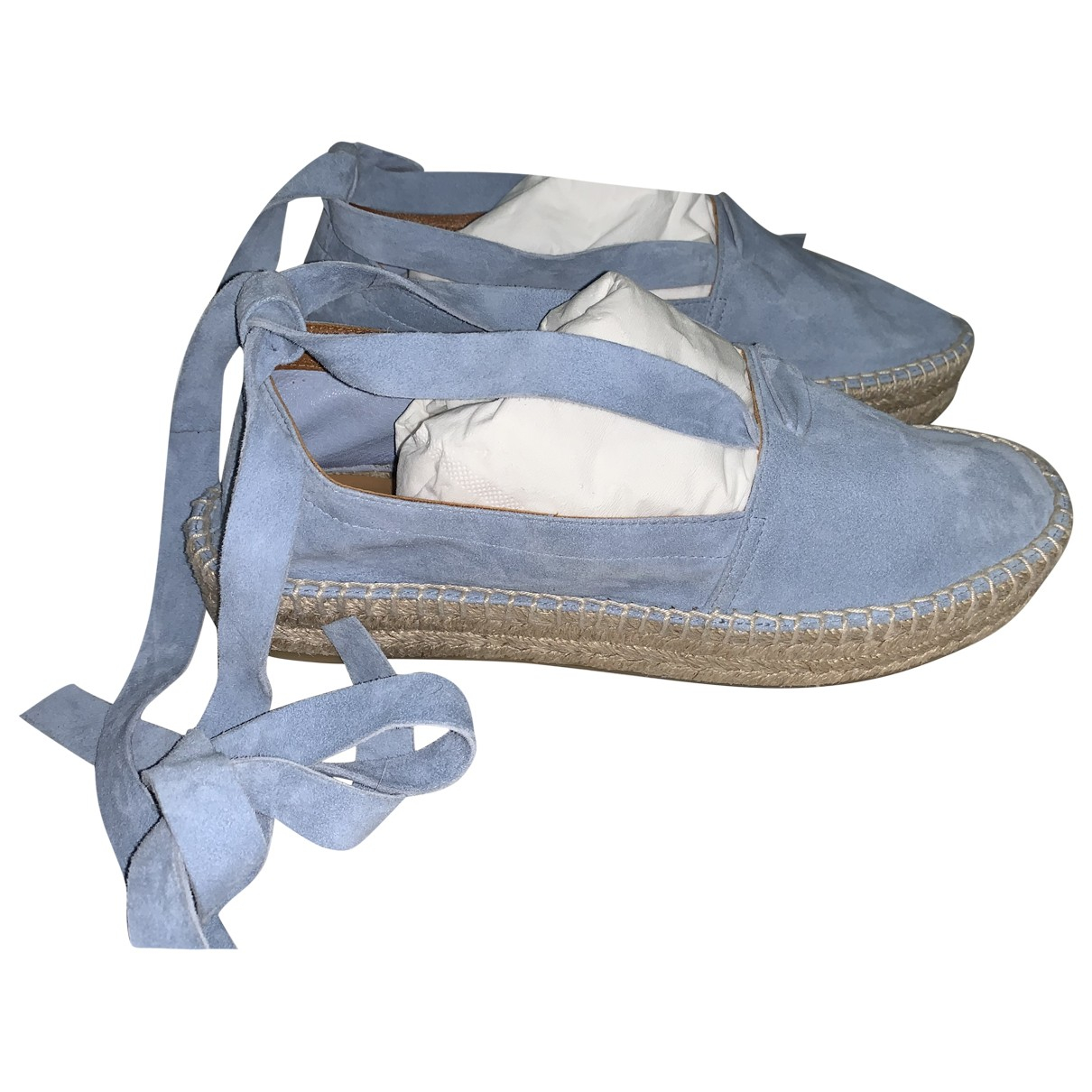 Ralph Lauren Collection \N Espadrilles in  Blau Veloursleder