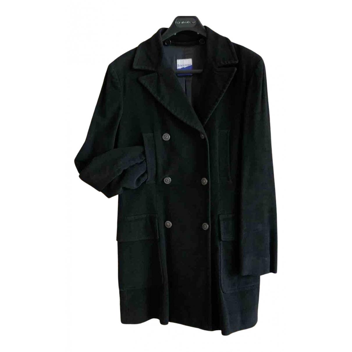 Non Signé / Unsigned N Black Cotton coat for Women 44 IT