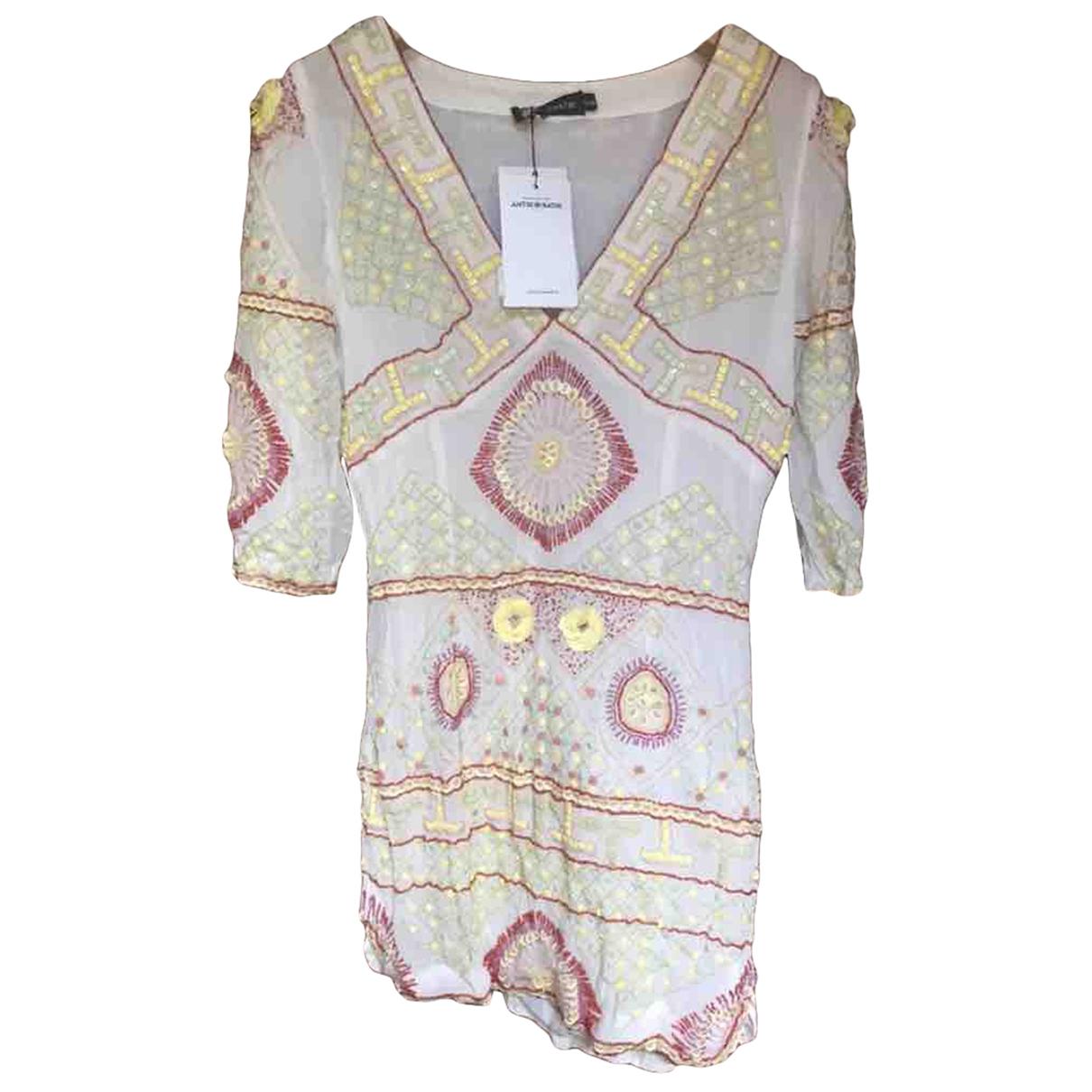 Antik Batik \N Kleid in  Ecru Baumwolle