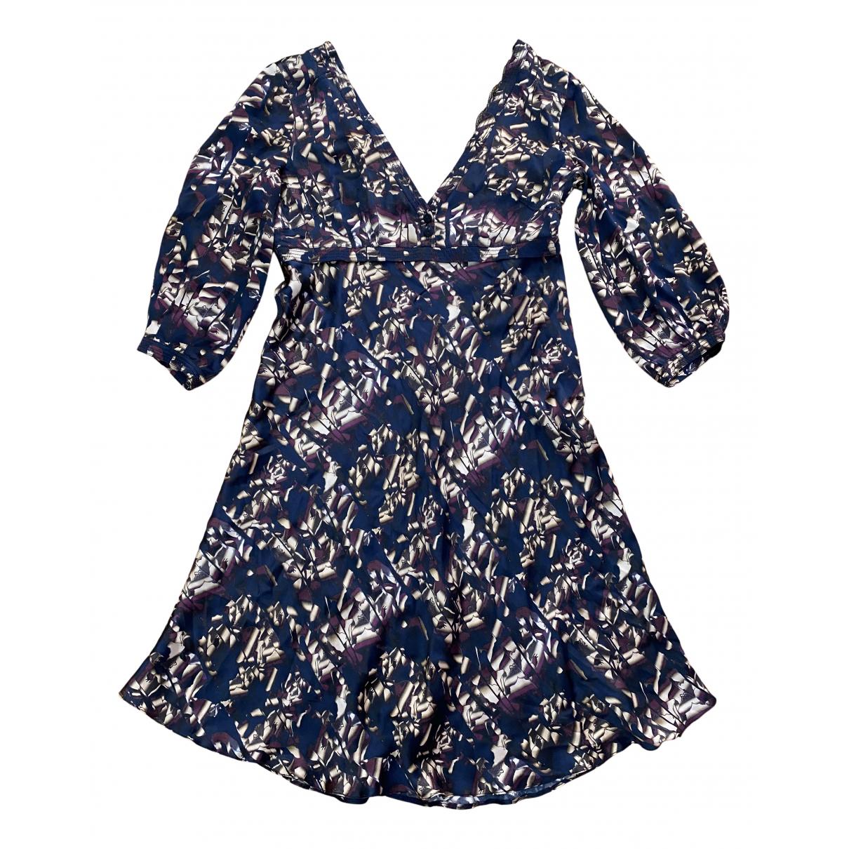 Costume National \N Kleid in  Blau Seide