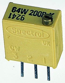 Vishay 64W Series 19 (Electrical), 22 (Mechanical)-Turn Through Hole Trimmer Resistor with Pin Terminations, 10Ω ±10%