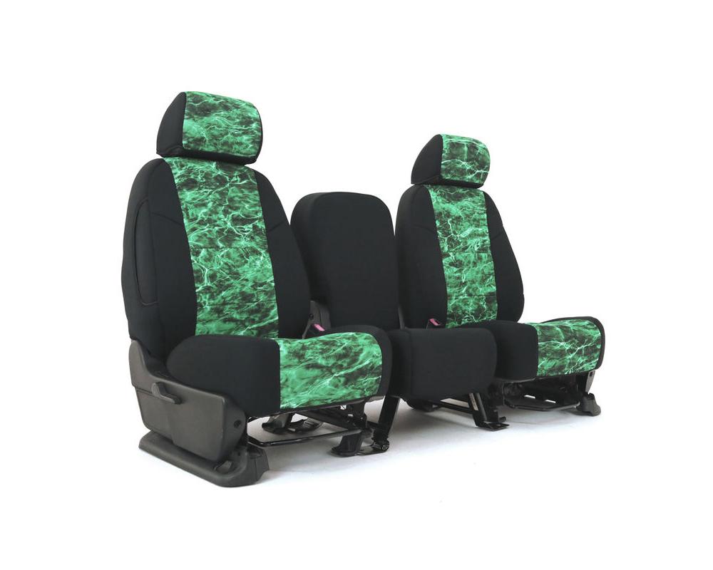 Coverking CSC2MO17TT9697 Skanda Custom Seat Covers 1 Row Neosupreme Mossy Oak Elements Largemouth with Black Sides Rear Toyota RAV4 2013-2018