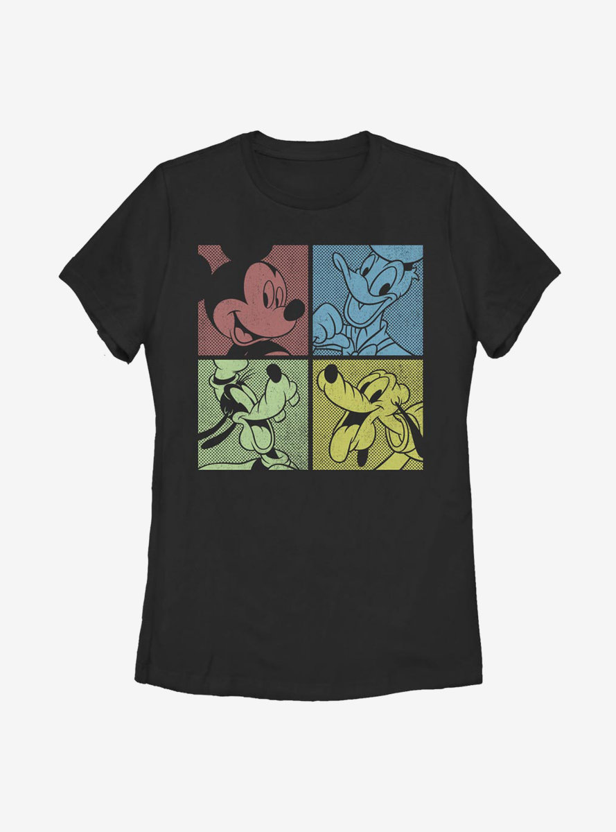 Disney Mickey Mouse Fab Four Womens T-Shirt