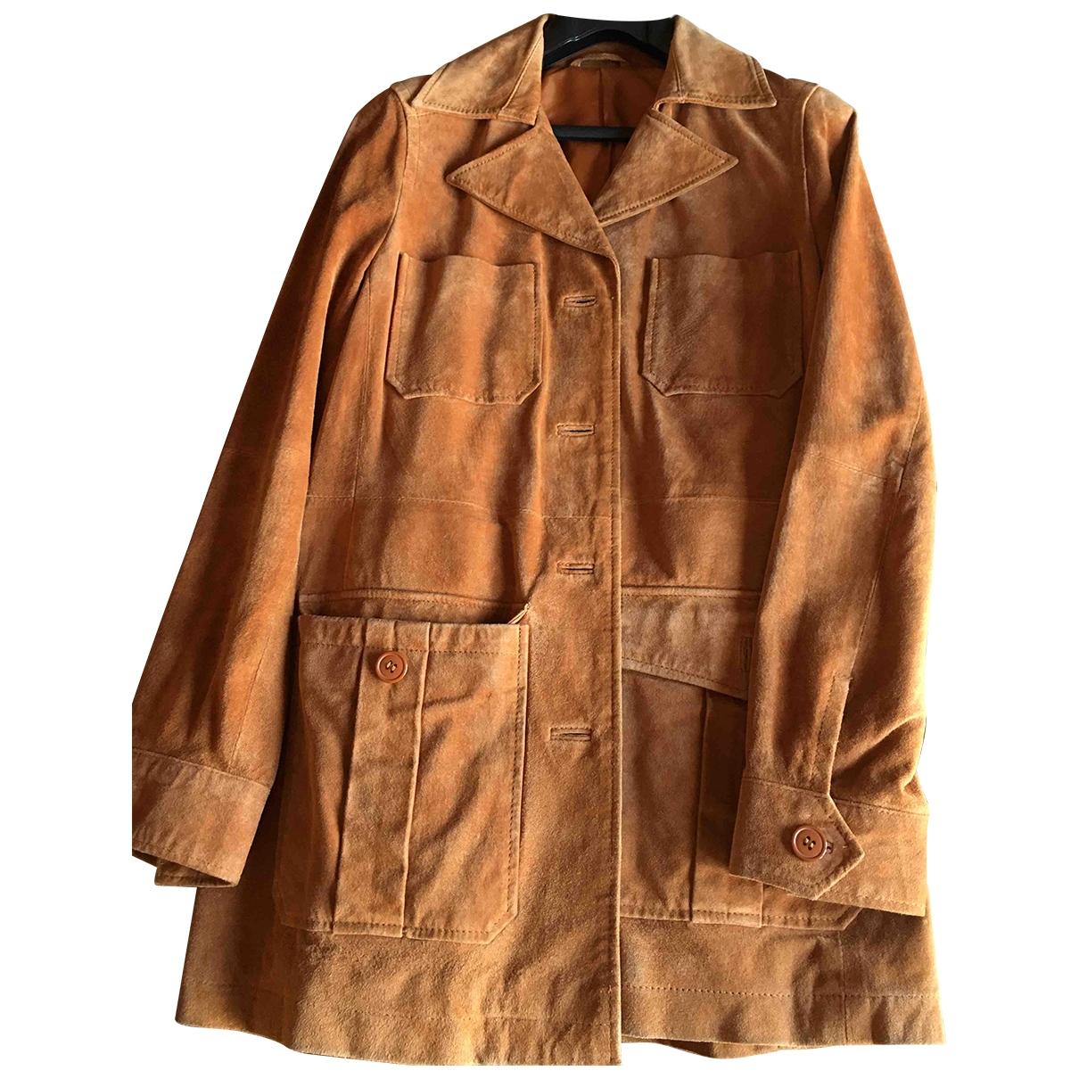 Stefanel \N Brown Leather jacket for Women XS International