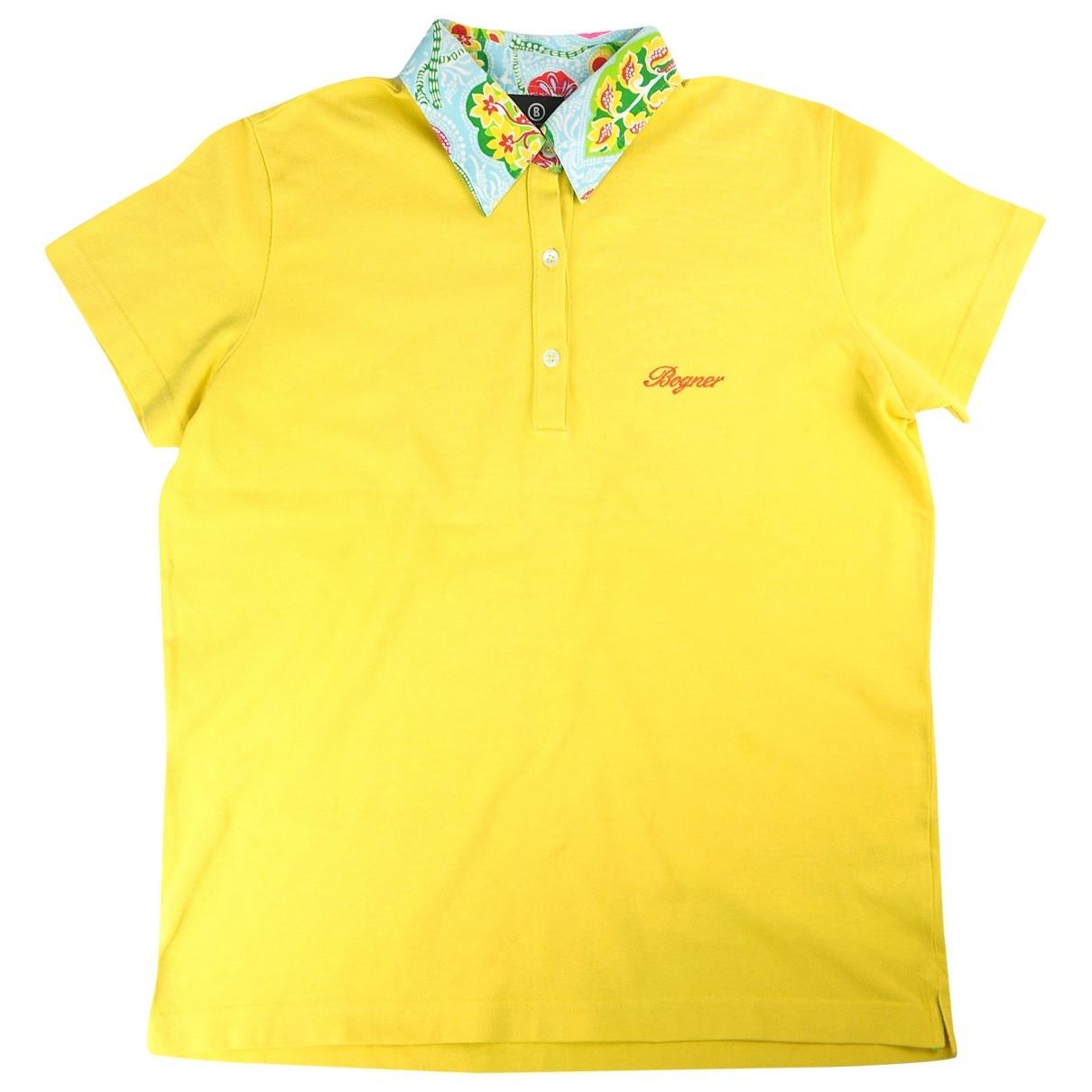 Bogner - Polos   pour homme en coton - jaune