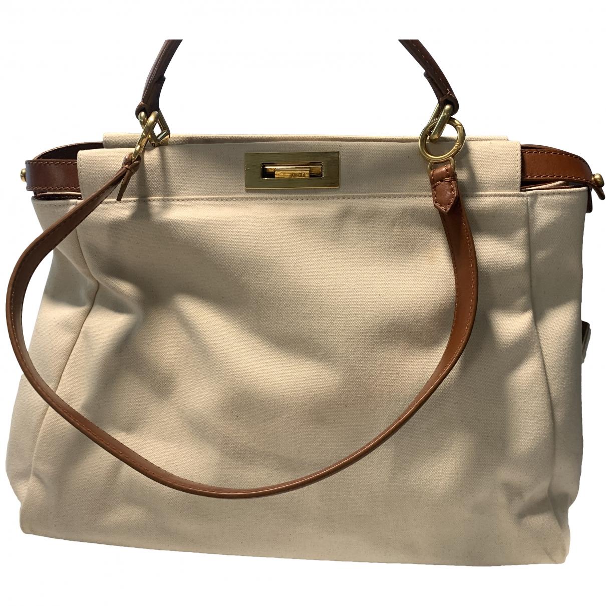 Fendi Peekaboo Ecru Cloth handbag for Women \N