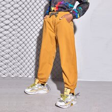 Boys Knotted Front Slant Pocket Pants