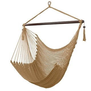 Caribbean Large Hammock Chair Swing Seat Hanging Chair with Tassels (Coffee)
