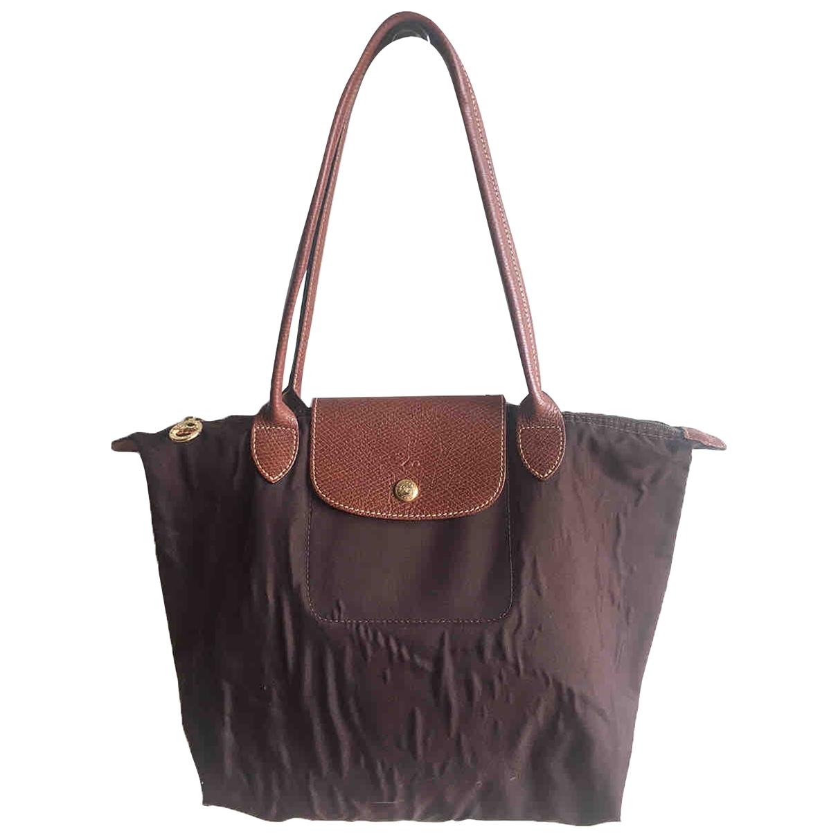 Longchamp - Sac a main Pliage  pour femme en toile - marron