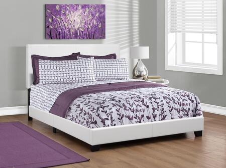 I 5911Q 86 Queen Size Bed with Upholstered Headboard   Contemporary Design and Faux Leather in