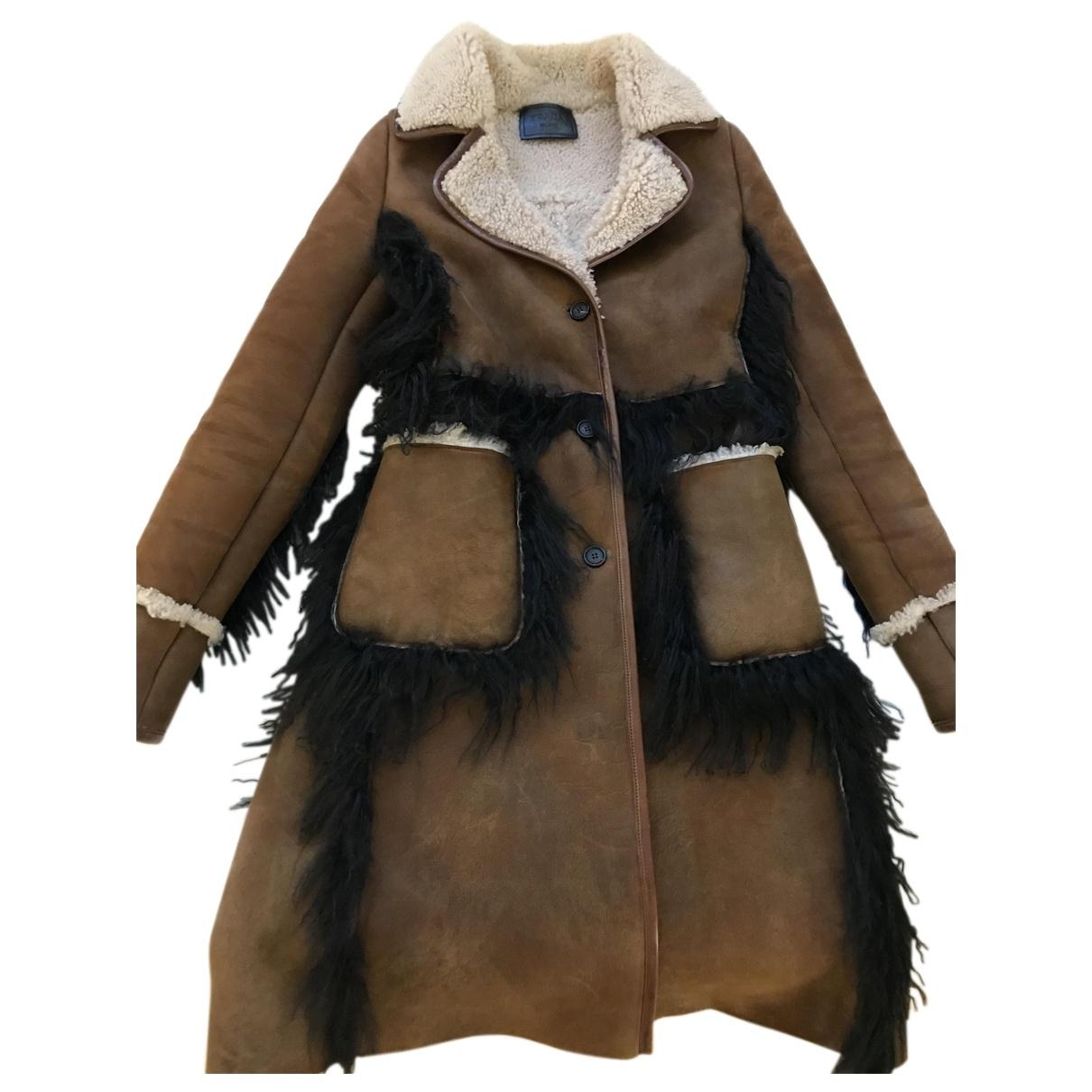 Prada - Manteau   pour femme en mouton - multicolore