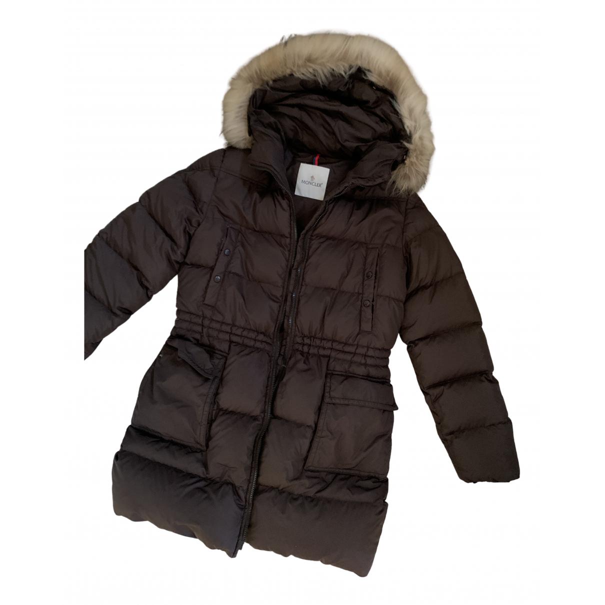 Moncler - Veste Fur Hood pour femme - marron