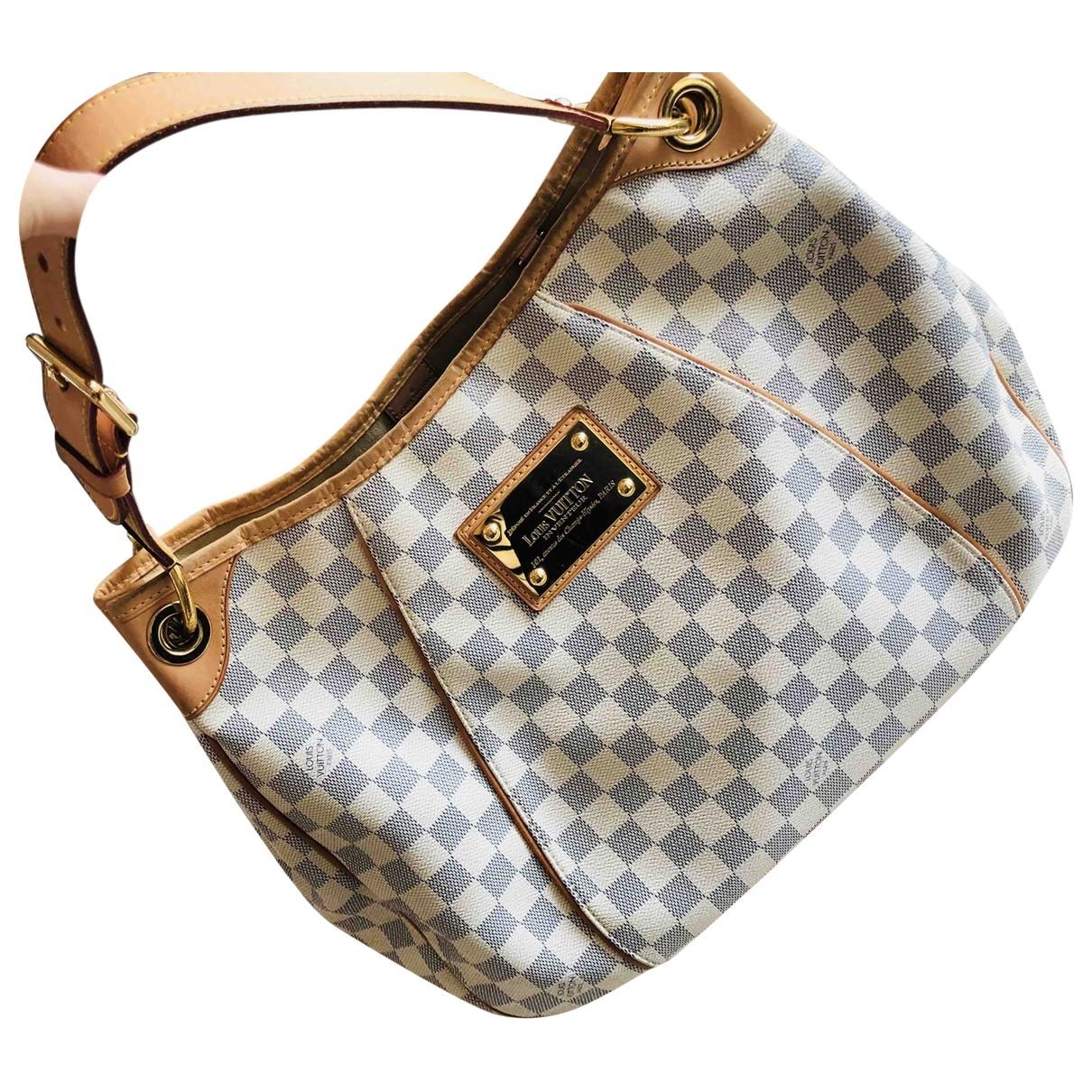 Louis Vuitton Galliera Handtasche in  Beige / Blau Leinen