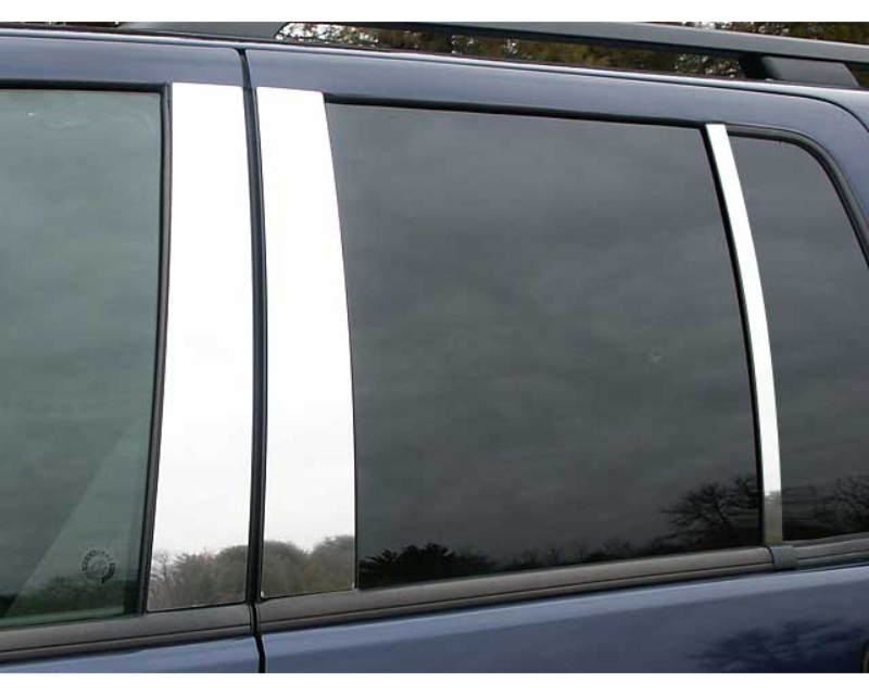QAA Stainless Steel Pillar Trim 6Pc 2002-2010 Ford Explorer