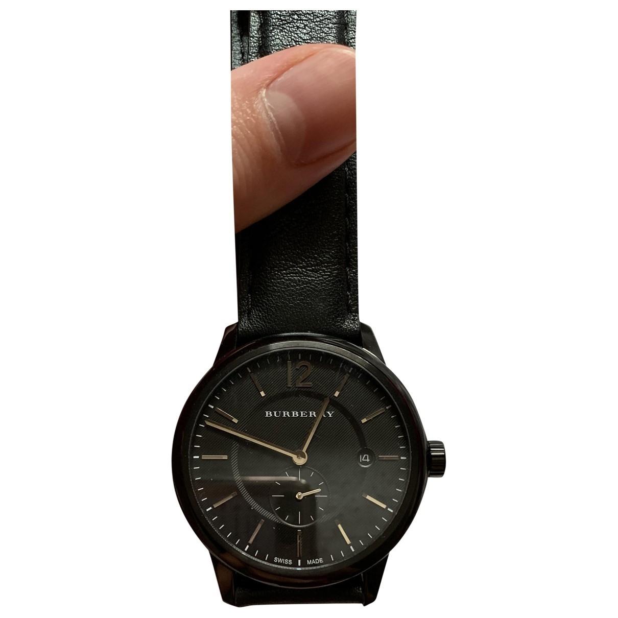 Burberry \N Black Steel watch for Men \N