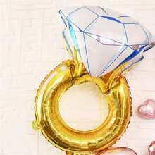 Globo en forma de anillo de diamante 1 pieza