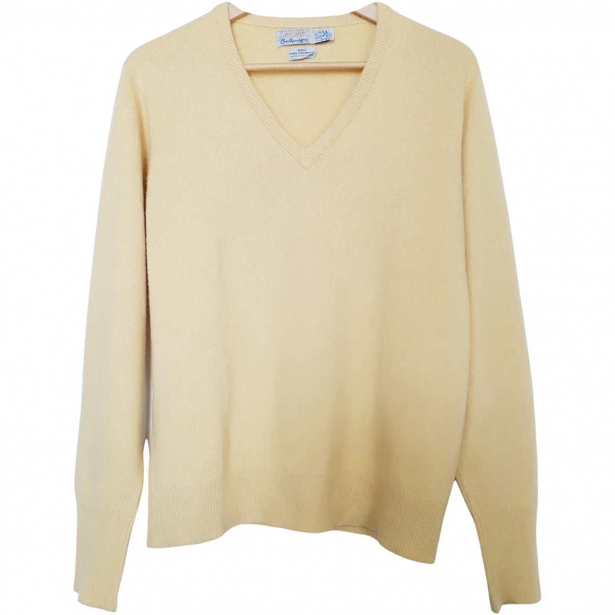 Non Signé / Unsigned \N Yellow Cashmere Knitwear & Sweatshirts for Men M International