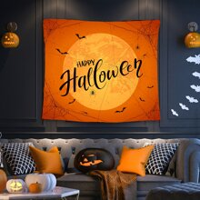 Halloween Letter Graphic Tapestry