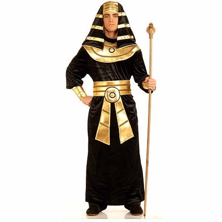 Pharaoh Adult Costume Mens Costume, One Size Fits Most , Black
