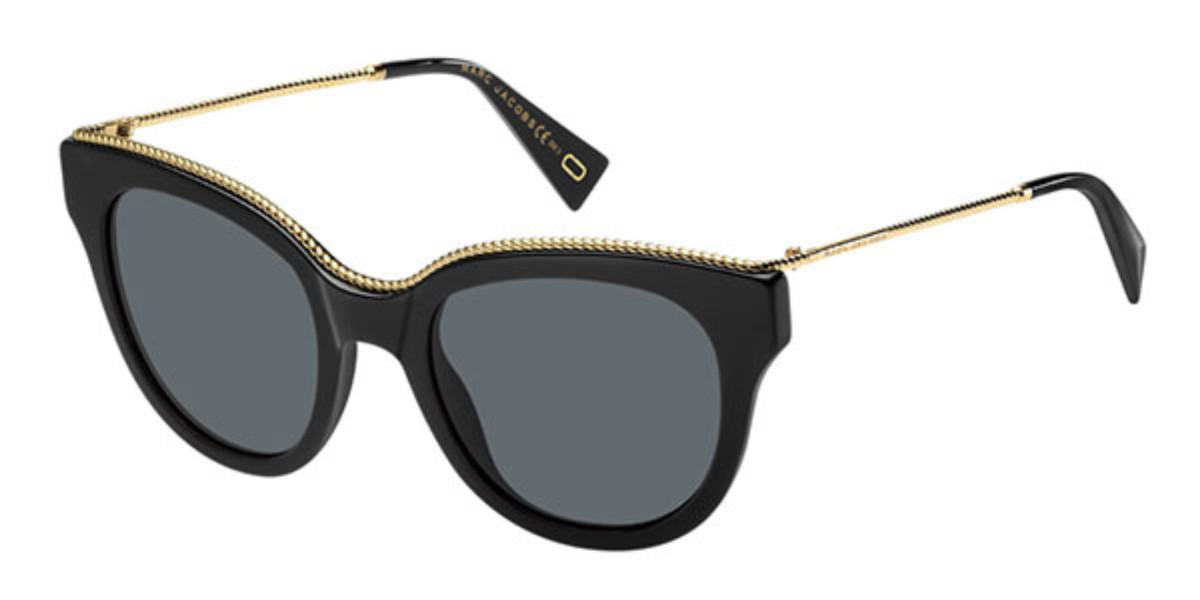 Marc Jacobs MARC 165/S 807/IR Women's Sunglasses Black Size 51