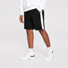 Shorts de hombres con cordon de cintura elastica