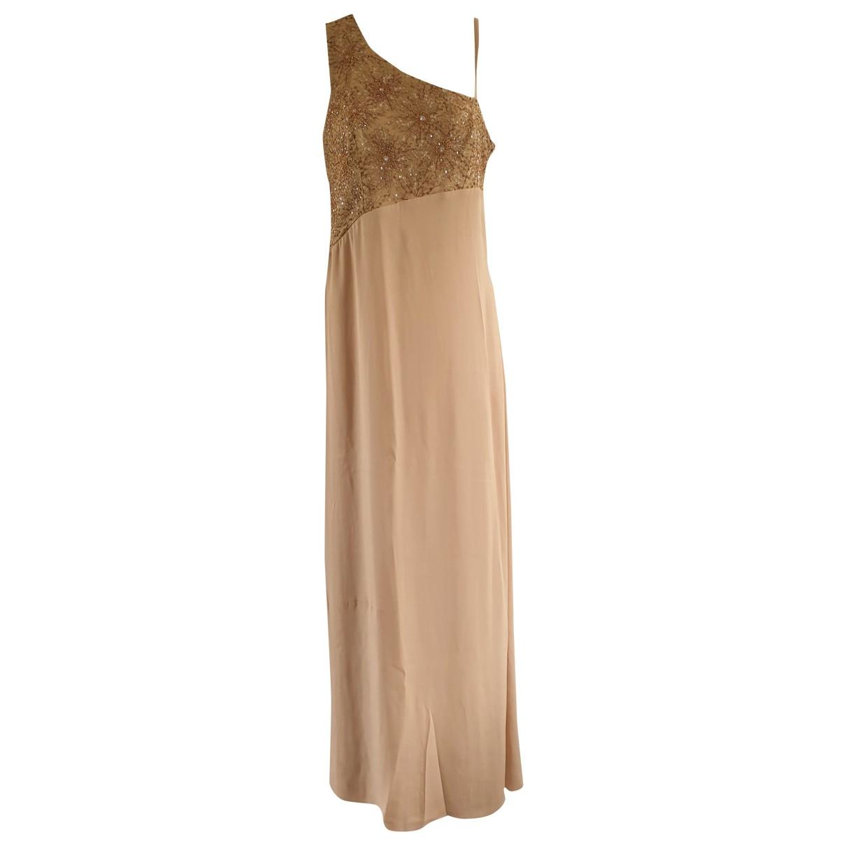 - Robe   pour femme en soie - camel