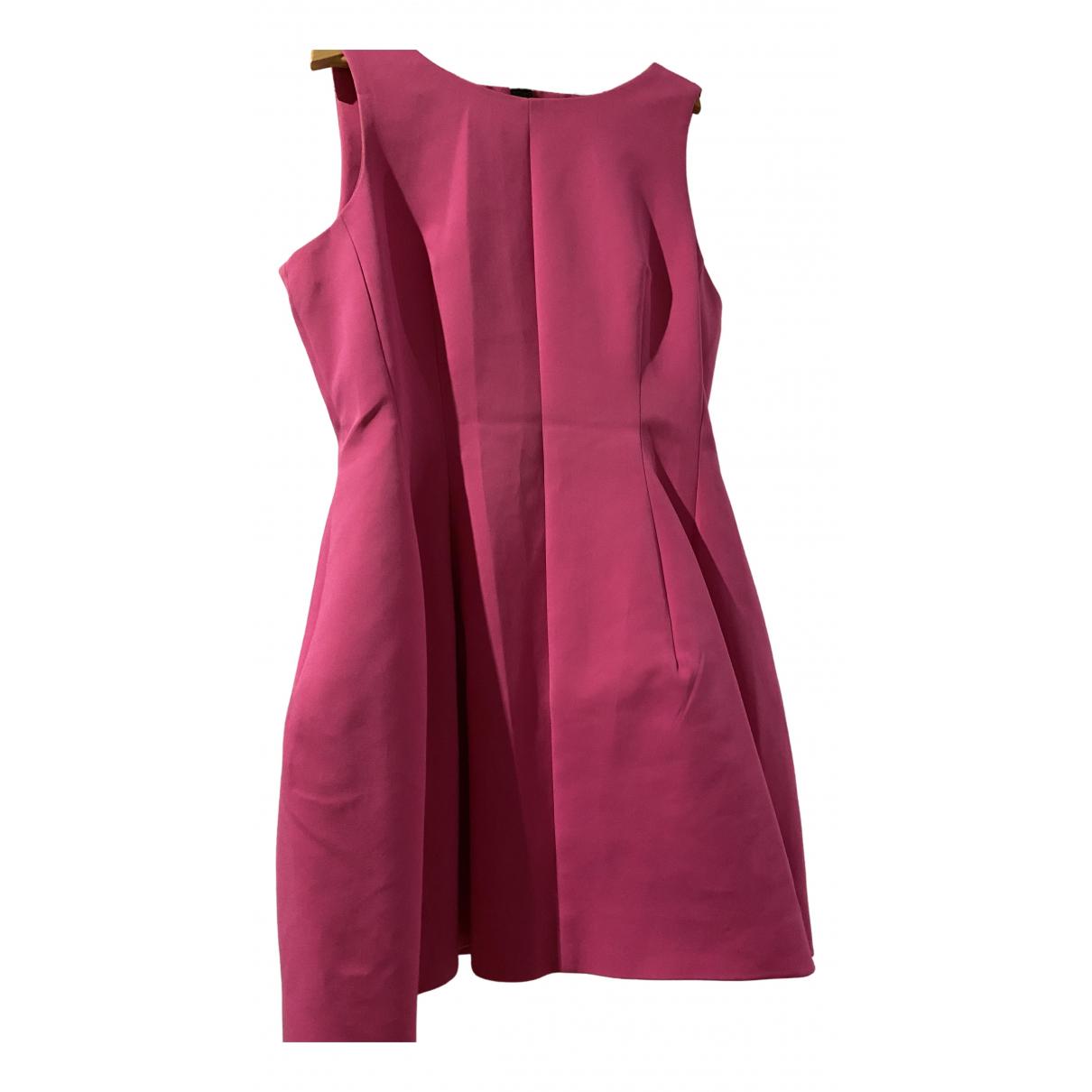 Zara - Robe   pour femme en coton - elasthane - rose
