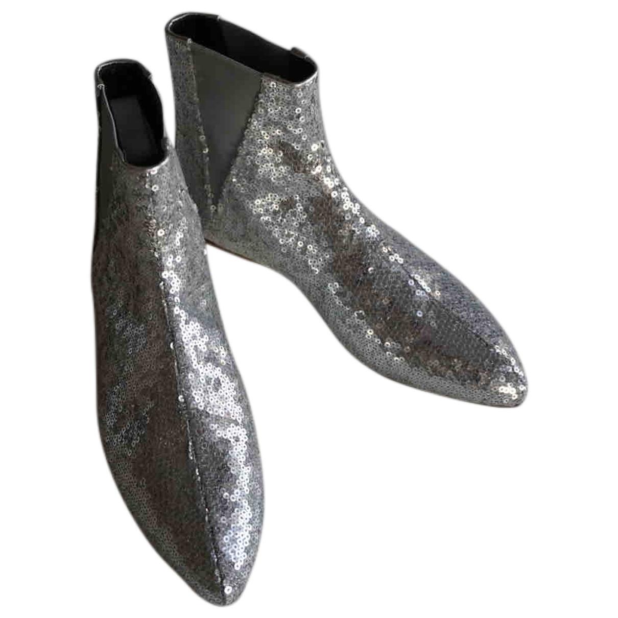 Loewe - Boots   pour femme en a paillettes - argente