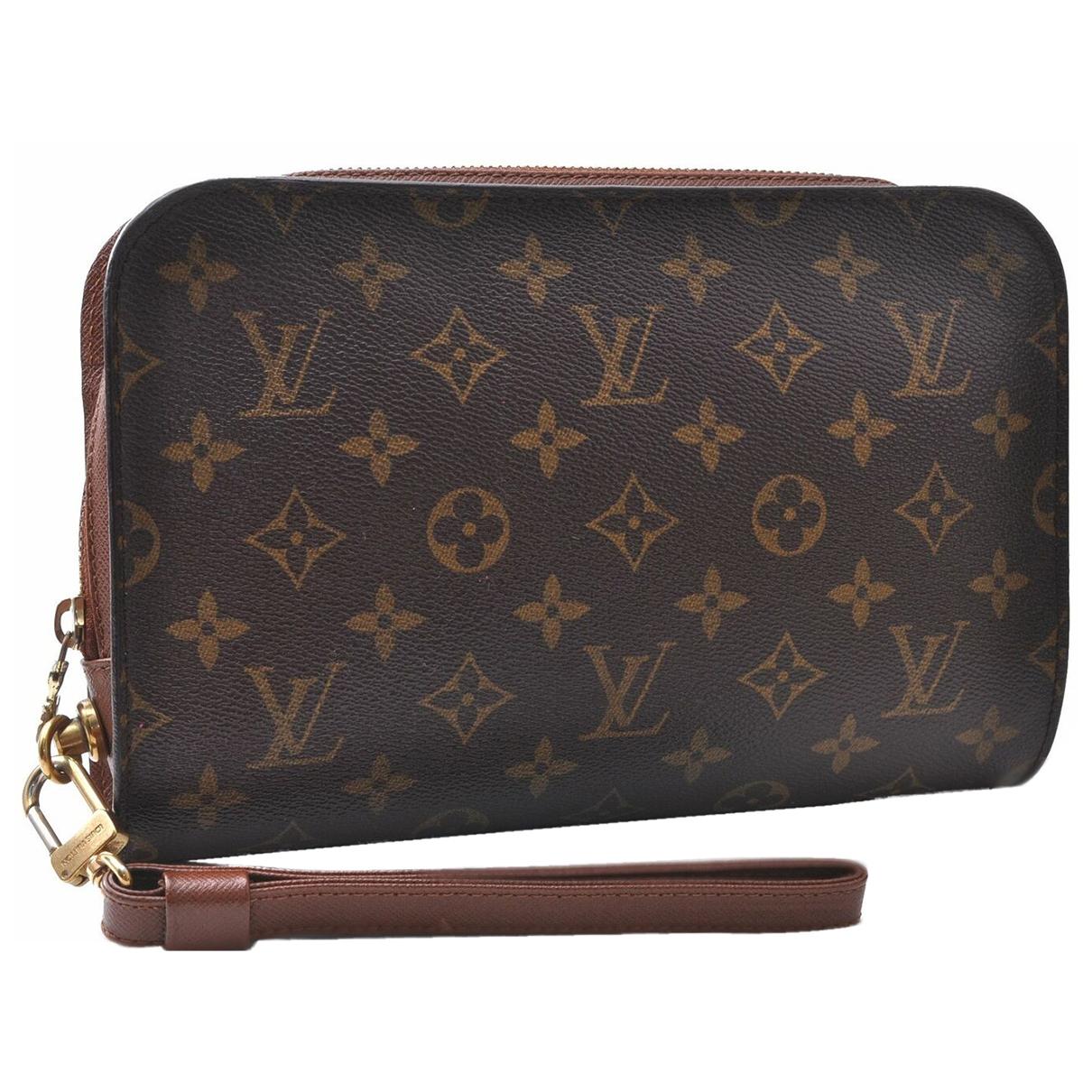Louis Vuitton - Pochette Orsay pour femme en toile - marron